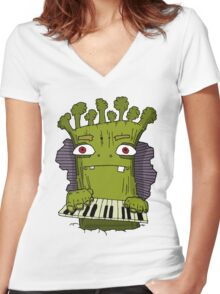 Broccoli Man Women's Fitted V-Neck T-Shirt