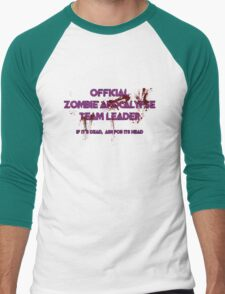 Zombie Apocalypse Team Leader Men's Baseball ¾ T-Shirt