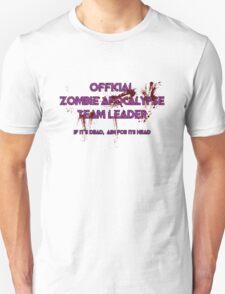 Zombie Apocalypse Team Leader Unisex T-Shirt