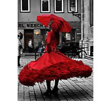 Swirling in Red Photographic Print