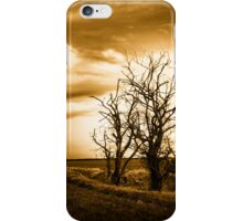 Two Trees Sepia Fields iPhone Case/Skin