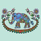 Folk Art Elephant by Kayleigh Walmsley