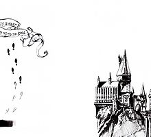 Hogwarts Castle - Marauder's Map  by chasitybleu