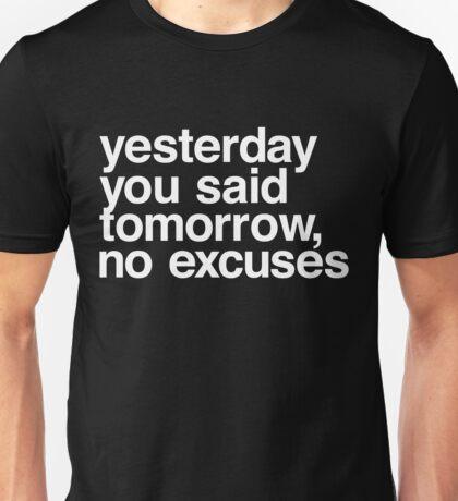 Yesterday - Helvetica White Unisex T-Shirt