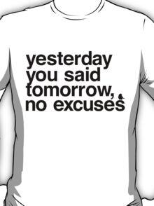 Yesterday - Helvetica Black T-Shirt