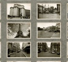 France 2007 Vintage Contact Sheet Sticker