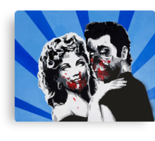 Grease Zombies  Canvas Print