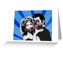 Grease Zombies  Greeting Card