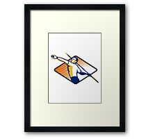 Athlete with Javelin Throwing Framed Print