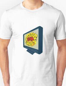 LCD Plasma TV Television Blam Unisex T-Shirt