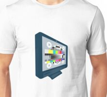 LCD Plasma TV Television Test Pattern Unisex T-Shirt