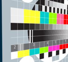 LCD Plasma TV Television Test Pattern Sticker