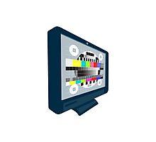 LCD Plasma TV Television Test Pattern Photographic Print