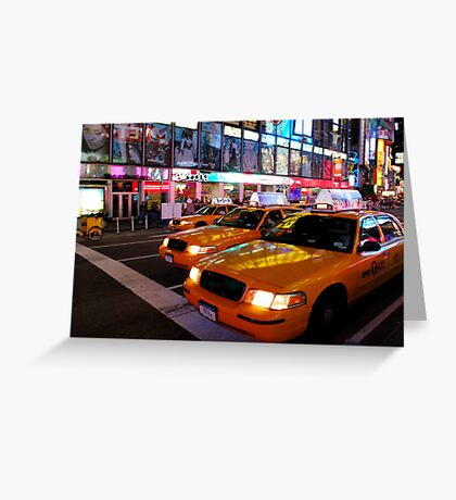 Taxi Cab Reflections Greeting Card