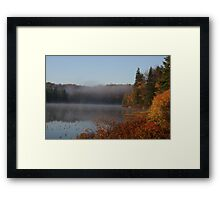 Early Fall Morning in the ADK's Framed Print