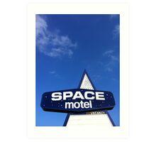 space motel  Art Print