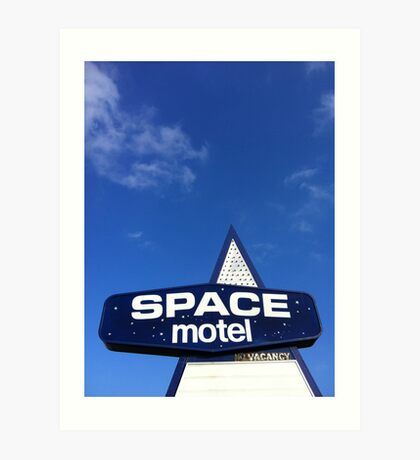 space motel  Art Print
