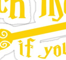 Catch me if you can wizard broomstick magic! Sticker