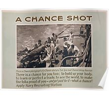 A chance shot This is a chance photograph of a chance shot at a sub by a real chance taking American Poster