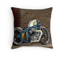 Stefan's Retro Triumph Bobber Throw Pillow