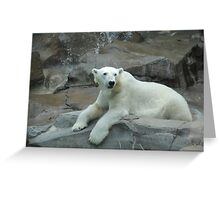 """Polar Bear""  by Carter L. Shepard Greeting Card"