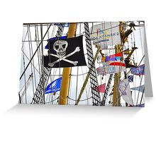 No Pirates here Greeting Card