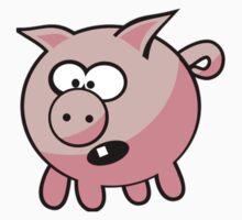 Cute Pig T-Shirt Coffee Mug Sticker Piggy Duvet Kids Tee