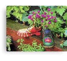 Garden Shoes Canvas Print