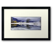 Percy Farm in Winter Framed Print
