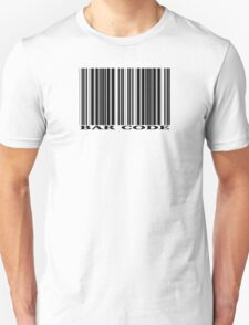 BAR CODE design with black on white Unisex T-Shirt