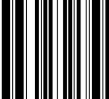 BAR CODE design with black on white Sticker