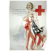 I summon you to comradeship in the Red Cross Woodrow Wilson 002 Poster