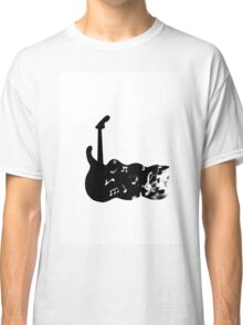 black and white guitar Classic T-Shirt