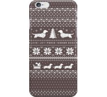 Dachshunds Christmas Sweater Pattern iPhone Case/Skin