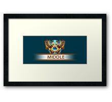 Middle badge Framed Print