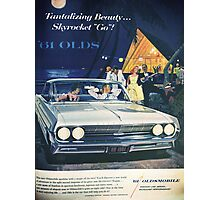 A vintage Oldsmobile advertising Photographic Print