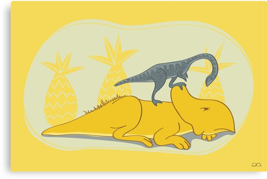 Protoceratops and Shuuvuia by David Orr