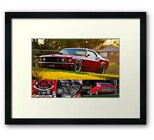 Laurie Attard's 1970 Ford Mustang - Poster Framed Print