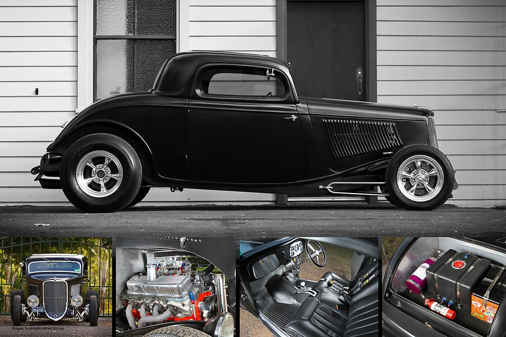 Phil Retford's 1933 Ford Coupe - Poster by HoskingInd