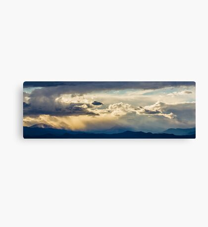 Rocky Mountain Stormy Sunset Canvas Print