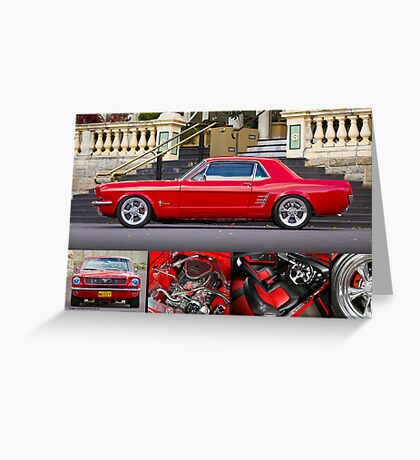 Keith Keily's 1966 Ford Mustang Coupe - Poster Greeting Card