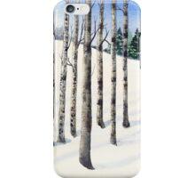 Watercolor 1_Snowy Hillside iPhone Case/Skin