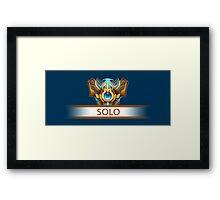 Solo Badge Framed Print