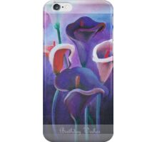 Birthday Wishes Greeting Card with Lilac Calla Lilies iPhone Case/Skin