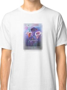 Birthday Wishes Greeting Card with Lilac Calla Lilies Classic T-Shirt