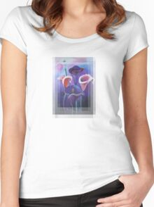Birthday Wishes Greeting Card with Lilac Calla Lilies Women's Fitted Scoop T-Shirt