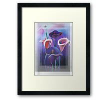Birthday Wishes Greeting Card with Lilac Calla Lilies Framed Print