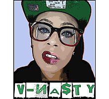 V-NASTY: WHITE GIRL MOB Photographic Print