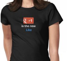 +1 is the new Like Womens Fitted T-Shirt