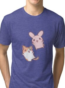 kitten and bunny  Tri-blend T-Shirt